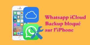 Whatsapp iCloud Backup bloqué sur l'iPhone