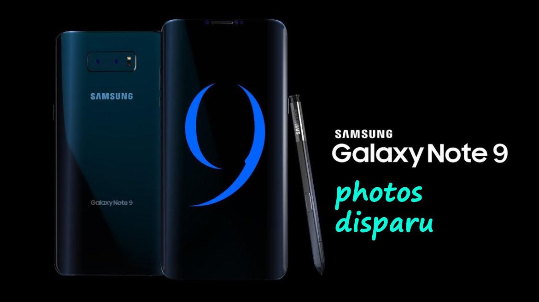 Photos disparues de Samsung Galaxy Note 9